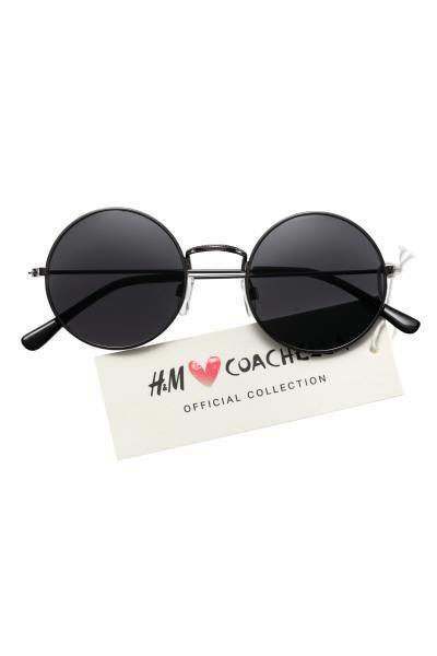 fb50bf12e571a H M LOVES COACHELLA. Óculos de sol redondos em metal com lentes ...