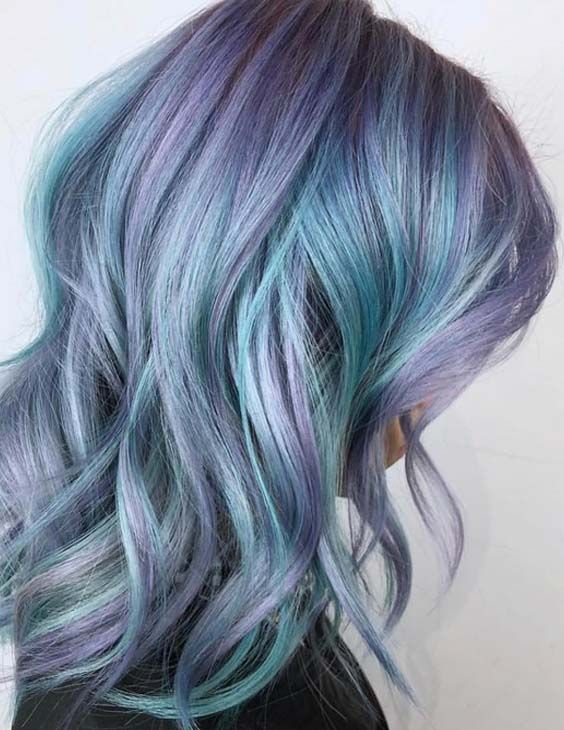 25 Beautiful Blue Hair Color Shades To Consider In 2018 Lavanta