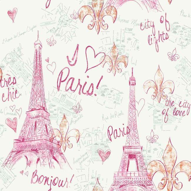 Pink Silver Paris Sidewall PW3910 Wallpaper possible