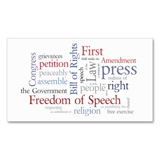 First amendment card for journalist lawyer lawyer and business cards first amendment card for journalist lawyer law schoollawyersbusiness colourmoves Choice Image