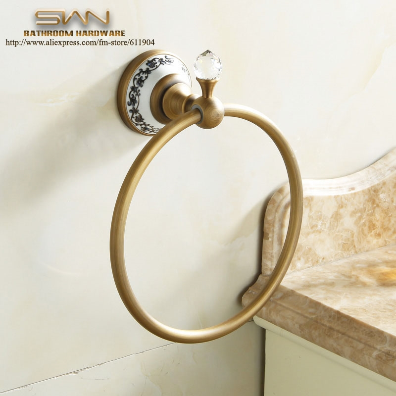 24.22$  Watch here - http://ali2f1.shopchina.info/1/go.php?t=32573133302 - Free Shipping Crystal Copper Towel Ring Holder Rack Bathroom Accessories,Towel Holder,Towel Bar bathroom accessories 3411801  #magazine