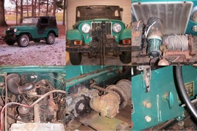 1955 Willys Cj5 With Electric Winch Pto Original Motor Runs