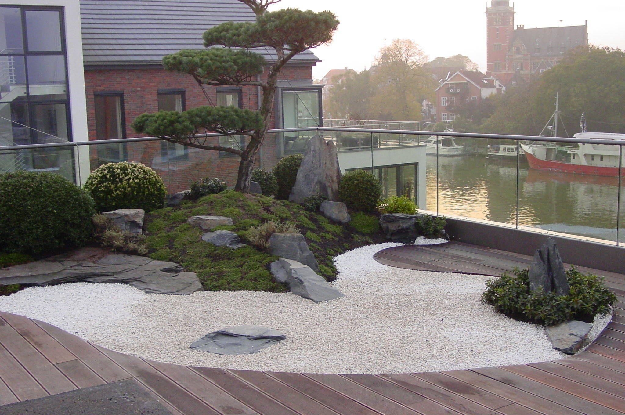 Gartengestaltung unter anwendung der japanischen