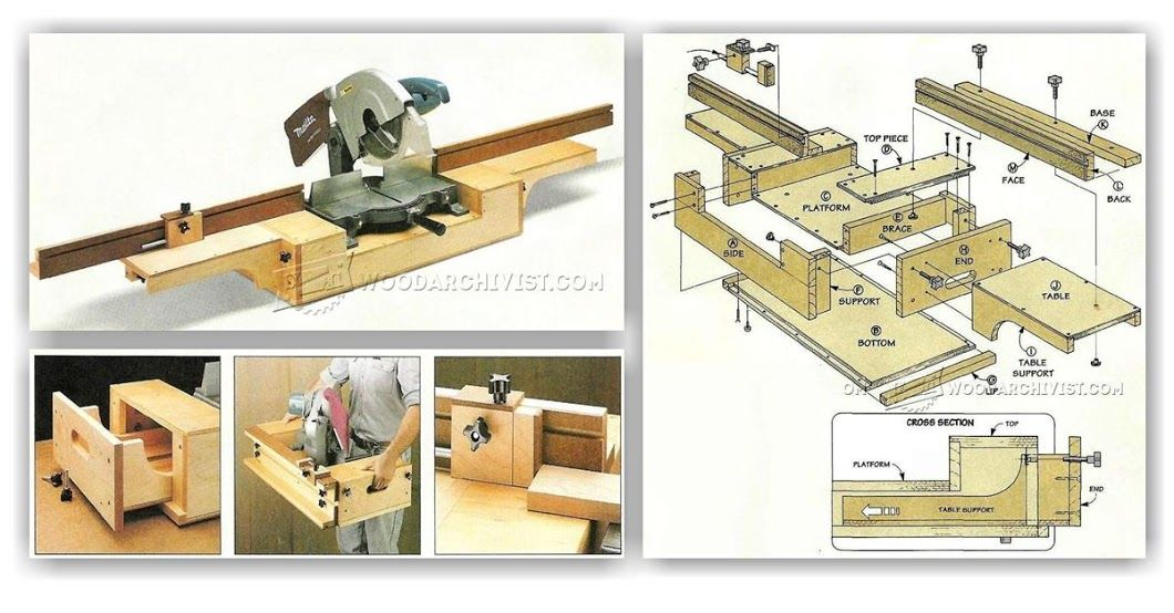 Build A Folding Outfeed Table To Mount On Your Table Saw Stand Including Diagram For Free Http Www Rockle Table Saw Stand Table Saw Woodworking Table Saw