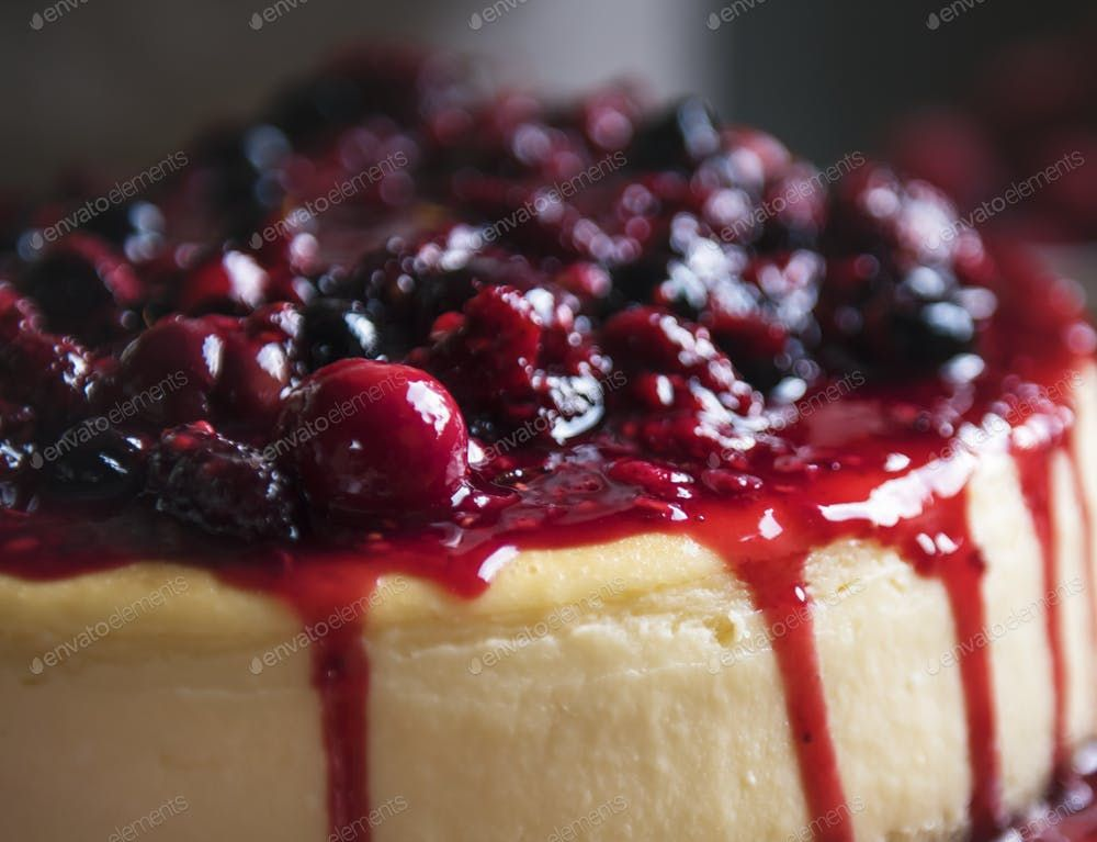 Fresh berry cheescake food photography recipe idea By Rawpixel鈥檚 photos ,