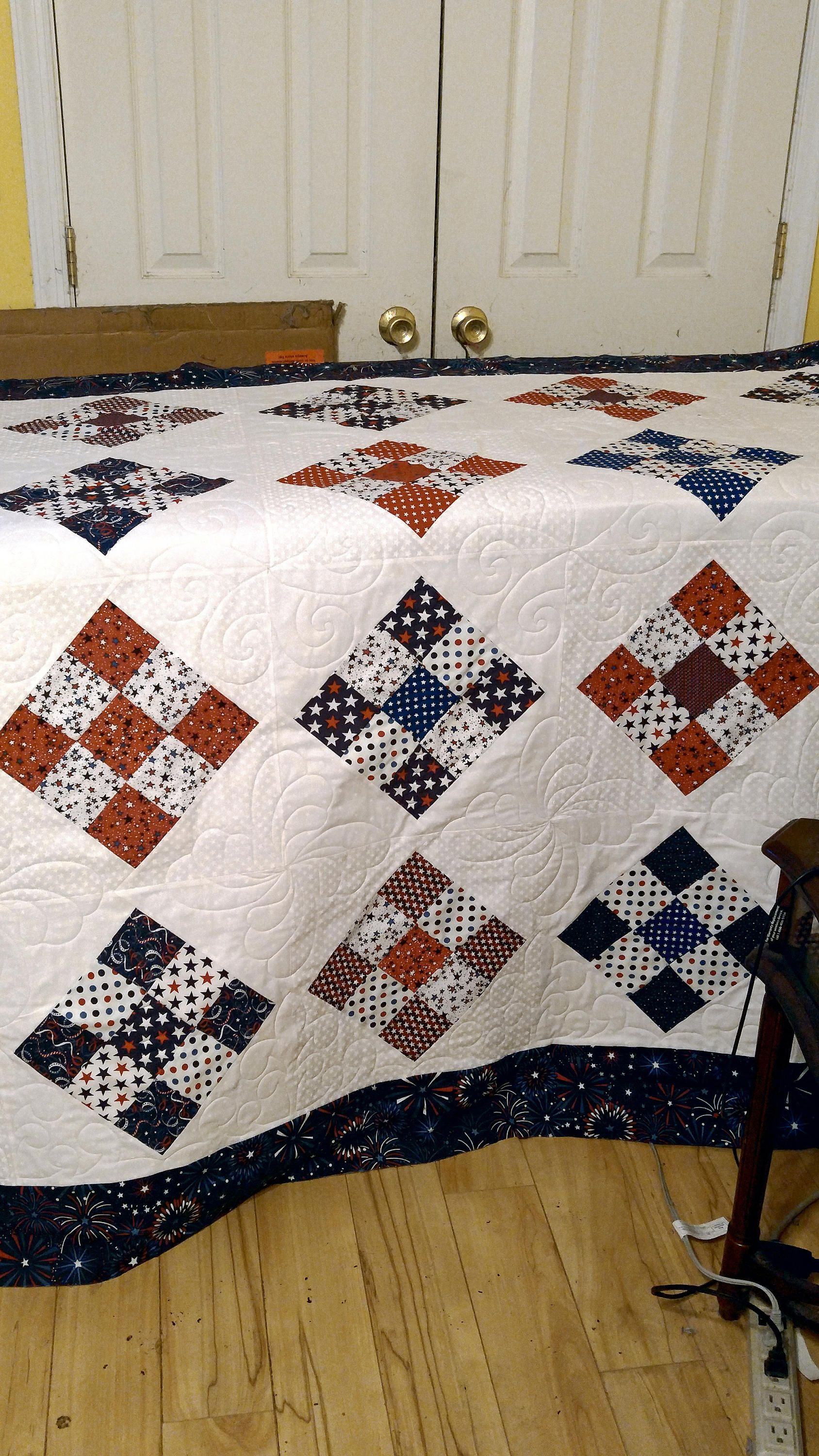 patriotic, handmade quilt, USA, bed quilt, fathers day, 4th of ... : quilts usa - Adamdwight.com