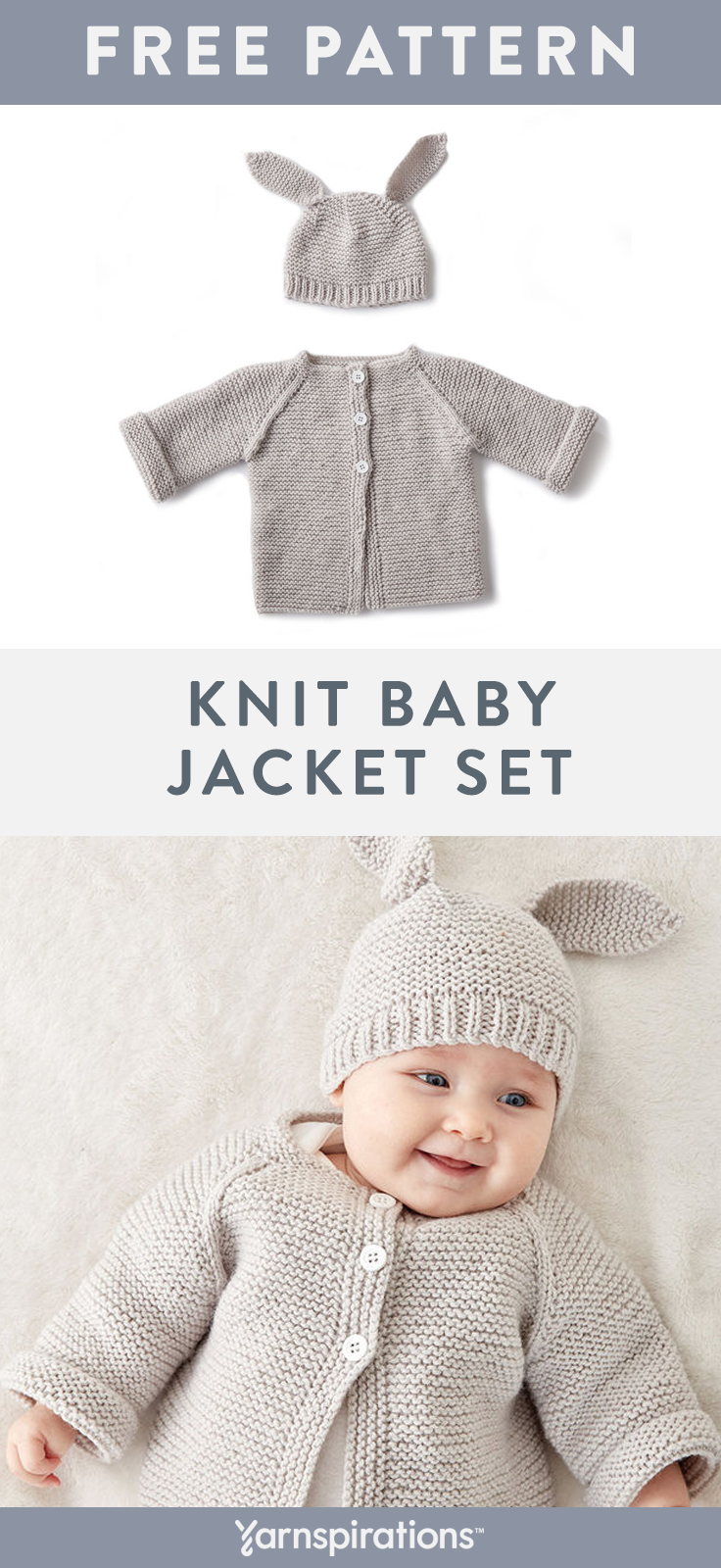 Free Knit Baby Jacket Hat Pattern Knit This Sweet Coordinating Hat And Sweater Set T Knit Baby Jackets Baby Sweater Patterns Baby Sweater Knitting Pattern