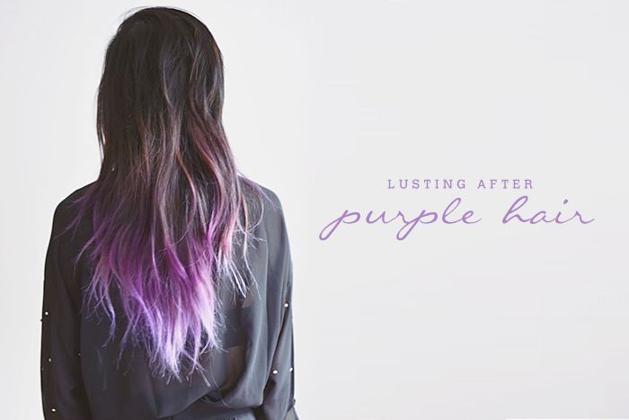 ombre hair tumblr brown to purple pastel purple and brown ...