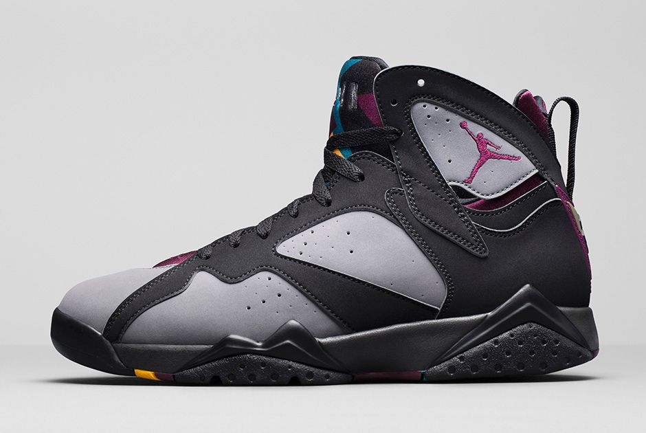 nike shox en promotion - 2015 Air Jordan VII Retro 7 Bordeaux Black Light Graphite 304775 ...