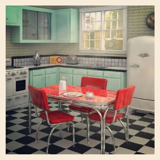 50s Kitchens 50's kitchen: my dream kitchen.   fallout kitchen   pinterest