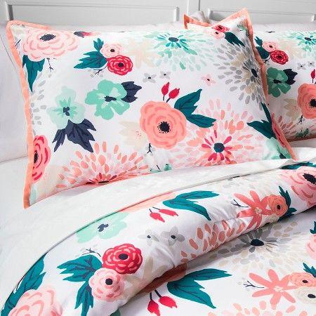 Multi Floral Printed Comforter Set Multicolor