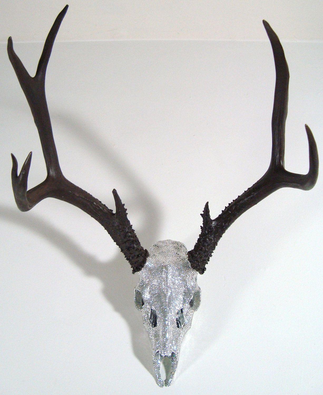 70f7cb2fe Swarovski Crystal Deer Skull Art Sculpture by MayaJadeCreations, $1,795.00