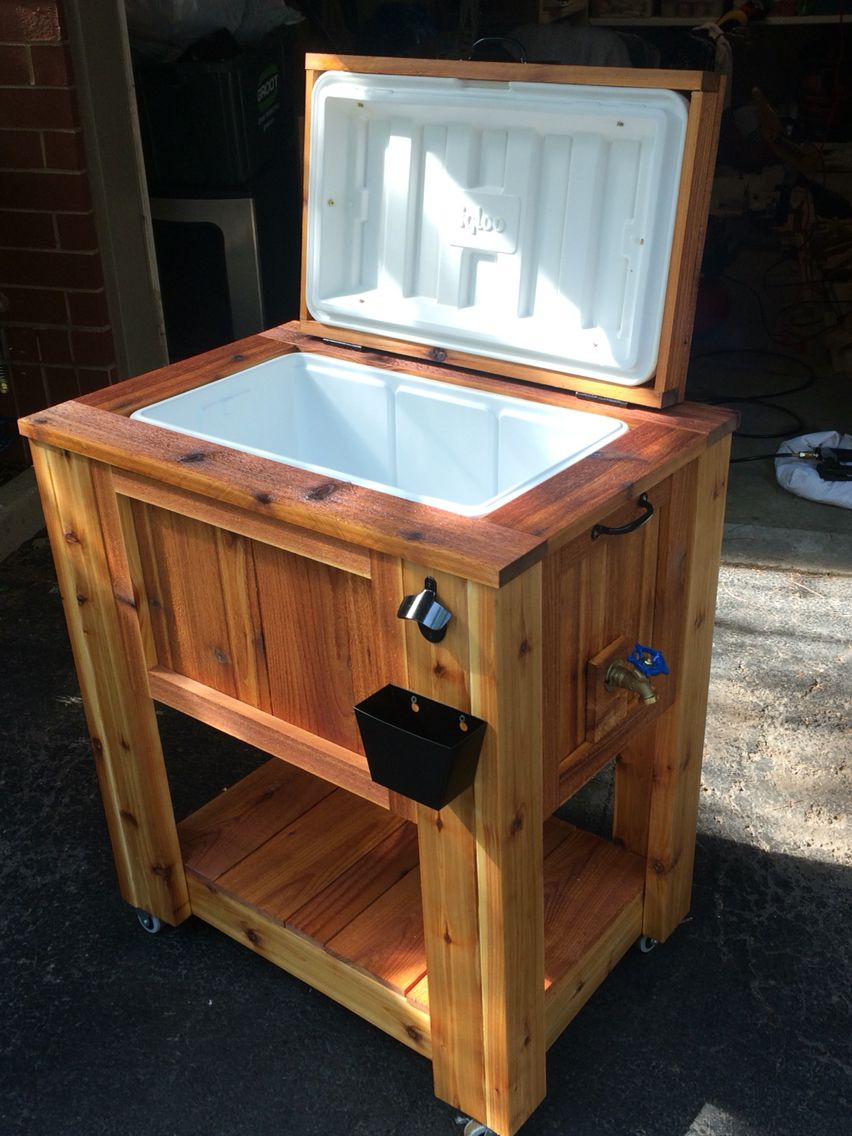Cedar Ice Chest Cooler Wood Cooler Wood Projects