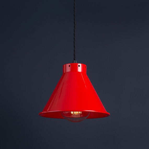 Industrie Vintage Retro Antike Cone Pendelleuchte Shade ( Shade Only) - 205mm Durchmesser