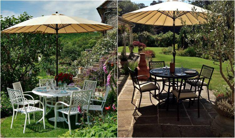Sitzplätze Im Garten Gemütlich Mit Metall Gartenmöbeln Gestalten