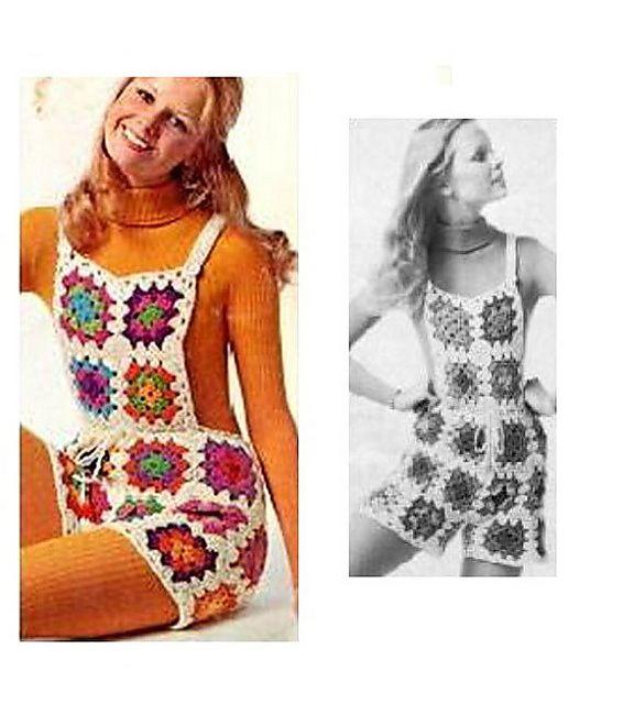 Vintage Crochet Shortalls | Cosas