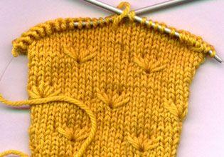 Margeritenmuster Handarbeiten Stricken Knit