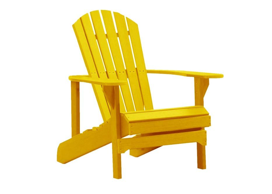 Yellow Folding Adirondack Chair Chair Outdoor Chairs Outdoor Furniture