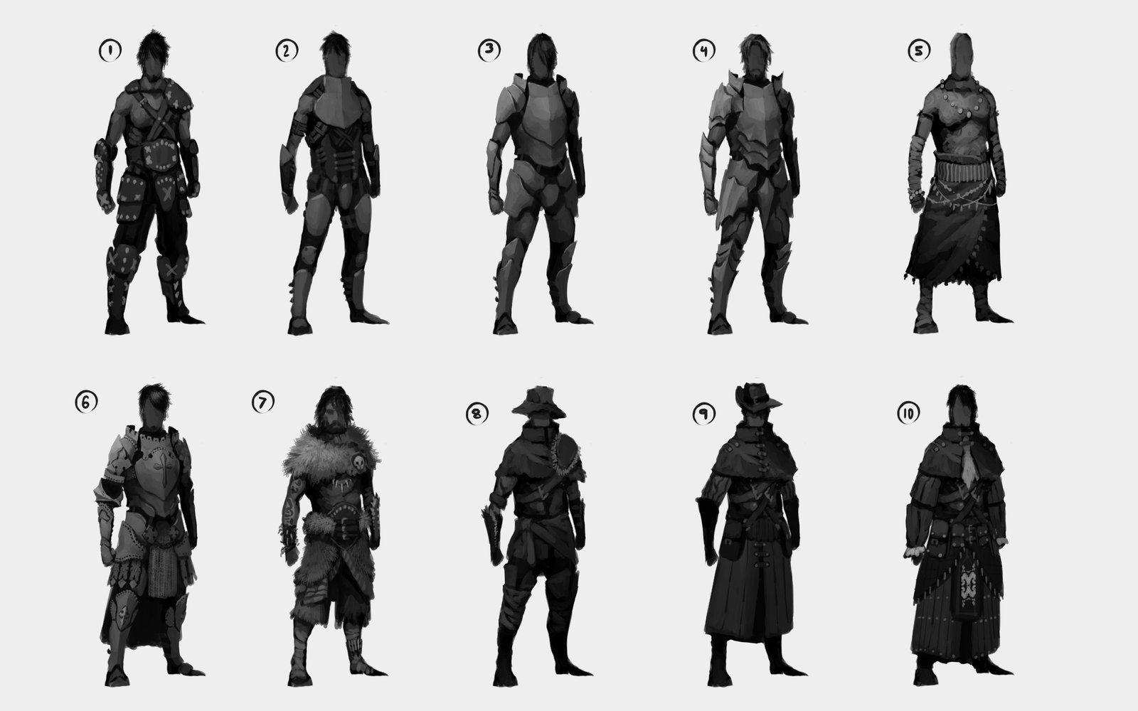 Character Design Thumbnails : Character thumbnails fantasy by cxartist viantart
