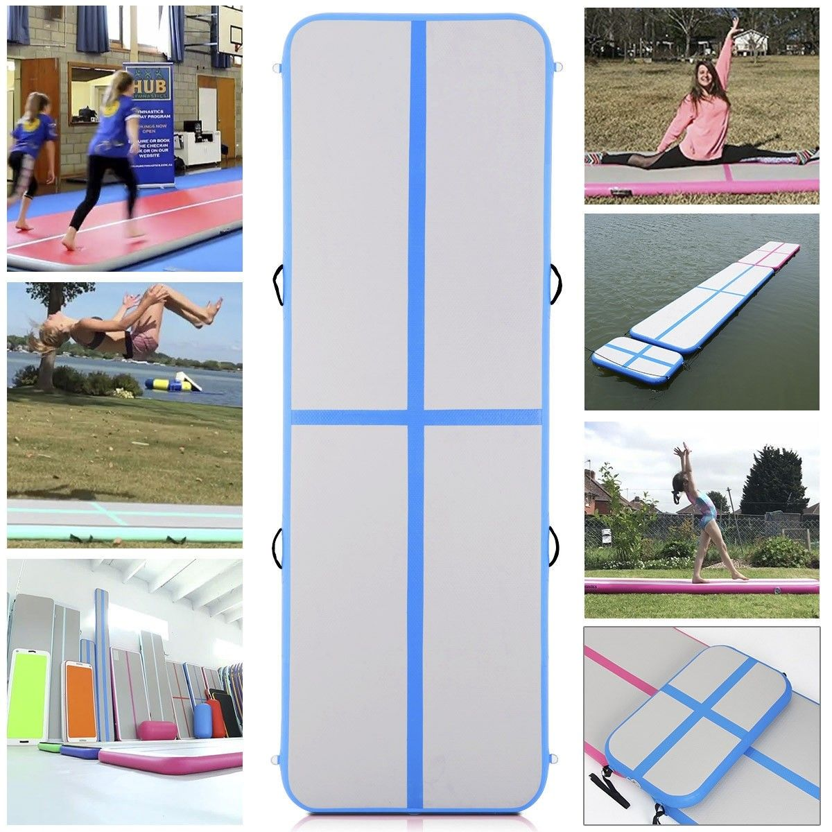 10' Inflatable Gymnastics Mat Air Track Floor with Pump