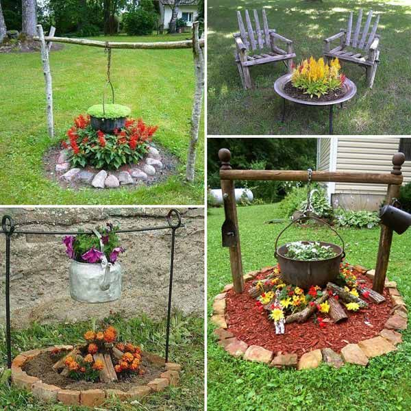 4 Creative Front Yard Landscaping Ideas: Plants Look Like A Fire Pit And Boiling Oven