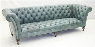 Best Aqua Tufted Leather Sofa Luxury Furniture Sofa Couch 400 x 300