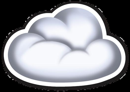 Pin By David On Emojistickers Cloud Stickers Clouds Cloud Emoji