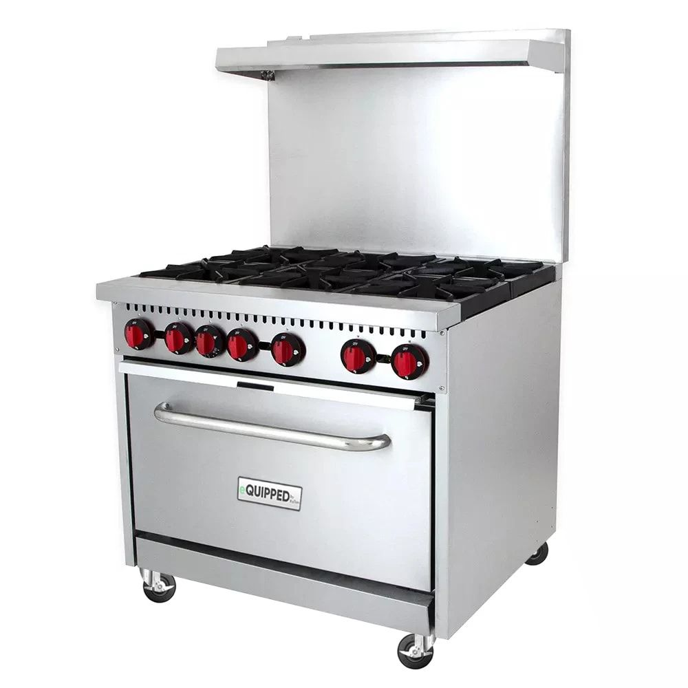 Equipped R6 36 6 Burner Gas Range W Standard Oven Natural Gas In 2020 Gas Stove For Sale Stoves For Sale Stoves Range