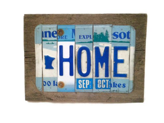 Available Now Minnesota Home License Plate Sign By Sweetsomeday
