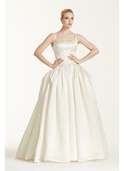 bce404e37cf Truly Zac Posen Satin Wedding Dress with Pleating ZP341501 ...