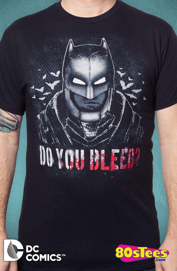 59ee2bab629f Batman V Superman Do You Bleed T-Shirt  Batman V Superman Mens T-Shirt