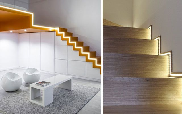 Ideas para decorar escaleras con luz decoraci n for Escaleras con luz