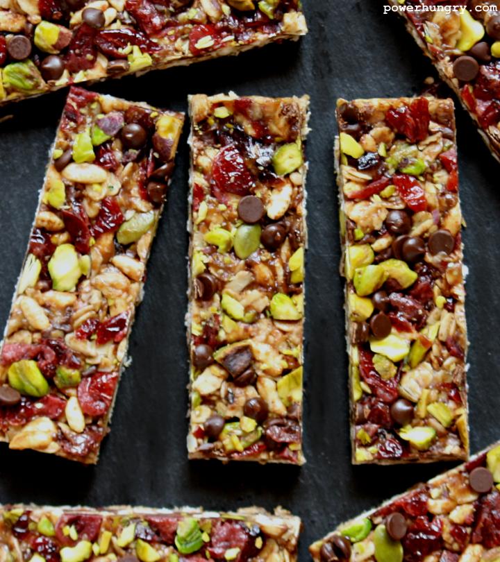 No-Bake Trail Mix Granola Bars {more protein, less sugar, fewer calories}
