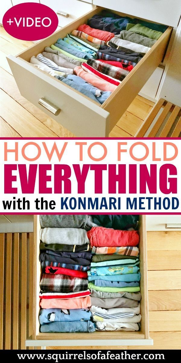 How to Fold Absolutely ANYTHING with the KonMari Method!
