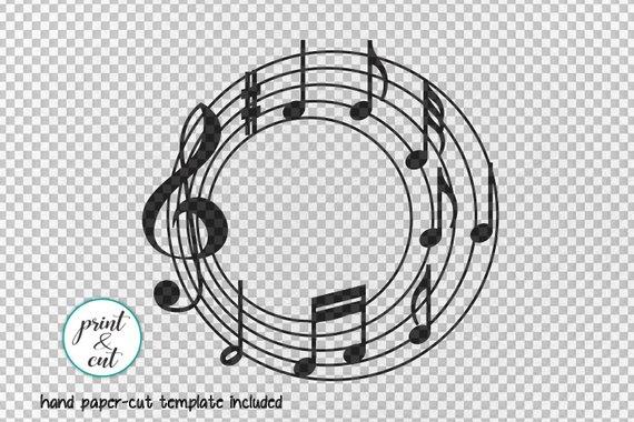 Music Monogram Svg Circle Monogram Svg Music Svg Music Etsy In 2020 Circle Monogram Monogram Template Monogram Svg