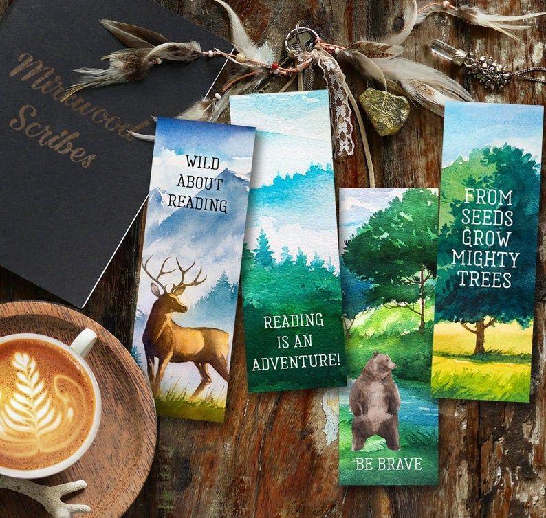 Printable Landscape Bookmarks Young Reader Bookmarks Deer