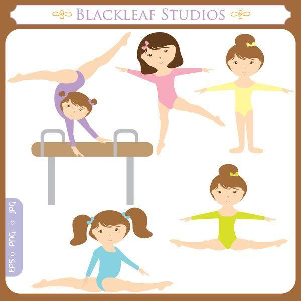 Little Girl Gymnast | Sports Graphics at Mygrafico