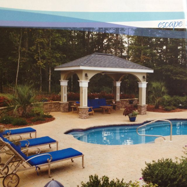 Pool patio Pool house Pinterest