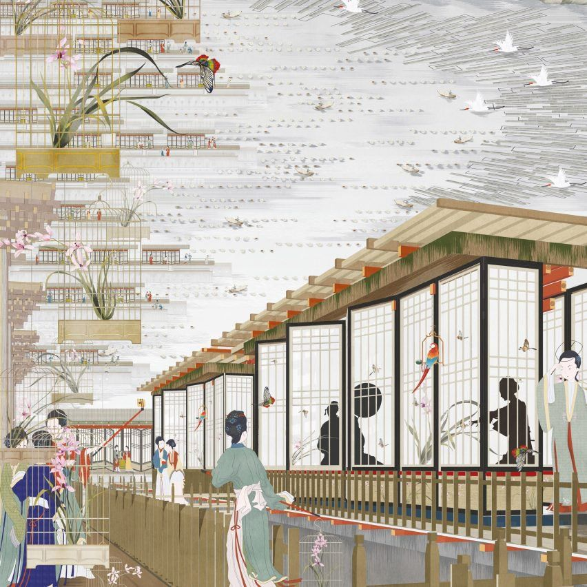"Bartlett student Freja Bao designs pilgrimage destination ""to rebrand China"""