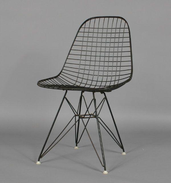 Eames Wire Mesh Eiffel Tower Side Chair Antique Helper