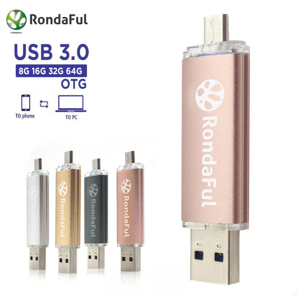 80734f4e6dc Rondaful USB 3.0 PenDrive Cell Phone Mobile Phone 8GB 16 32 64GB USB Flash  External Storage Phone OTG USB Flash Drive Pen drive  Affiliate