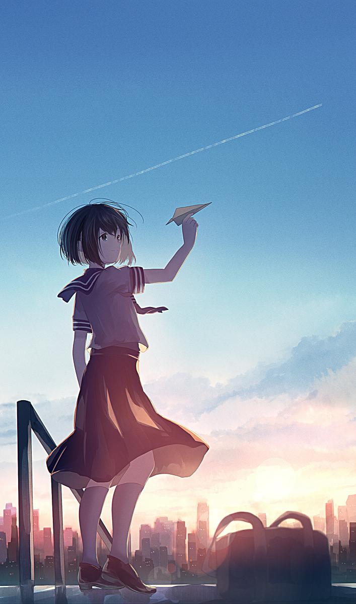 オリジナル 風に乗せて みふる 的插画 pixiv 芸術的アニメ少女 イラスト キャラクターアート