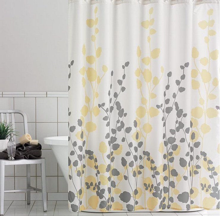 Zigzag Shower Curtain This Would Be Cute In The Guest Bath Too Description From Pinterest Com Yellow Shower Curtains Yellow Bathrooms Bathroom Shower Curtains