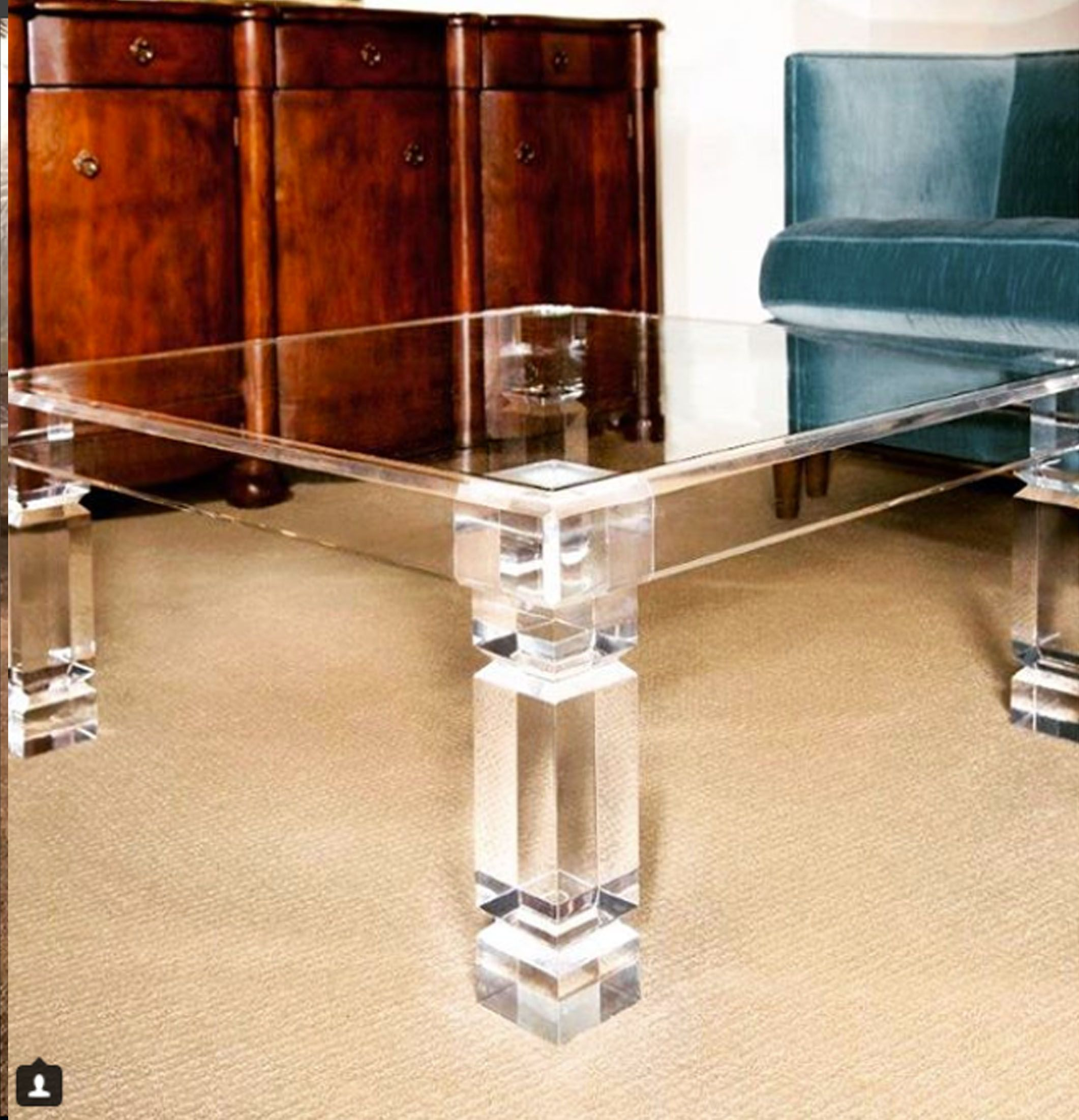 Adrienne Coffee Table Lucite Furniture Coffee Table Lucite Coffee Tables [ 2202 x 2122 Pixel ]