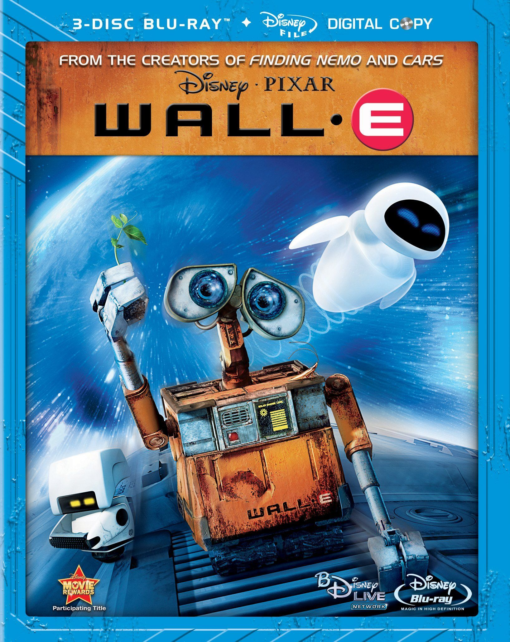 WALL•E Bluray WALLE 3disc PIXAR Wall e movie