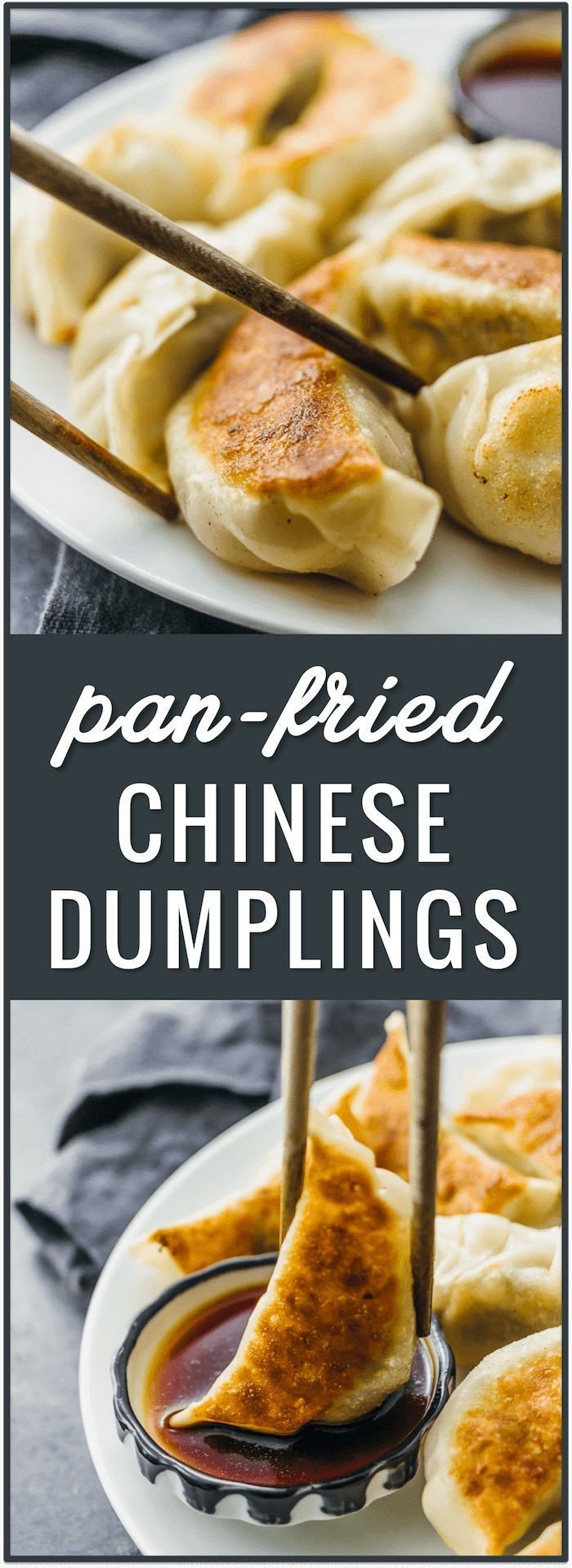 Pan-fried Chinese dumplings recipe, potstickers, pork dumplings, easy dumplings, how to cook dumplings from scratch, beef dumplings, fried, frozen, boil, filling ideas, authentic, homemade, chicken, for soup, asian via @savory_tooth #chinesefood