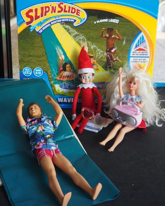 I Think Our Elf Rain Is Saying Its Time For A Backyard Slip