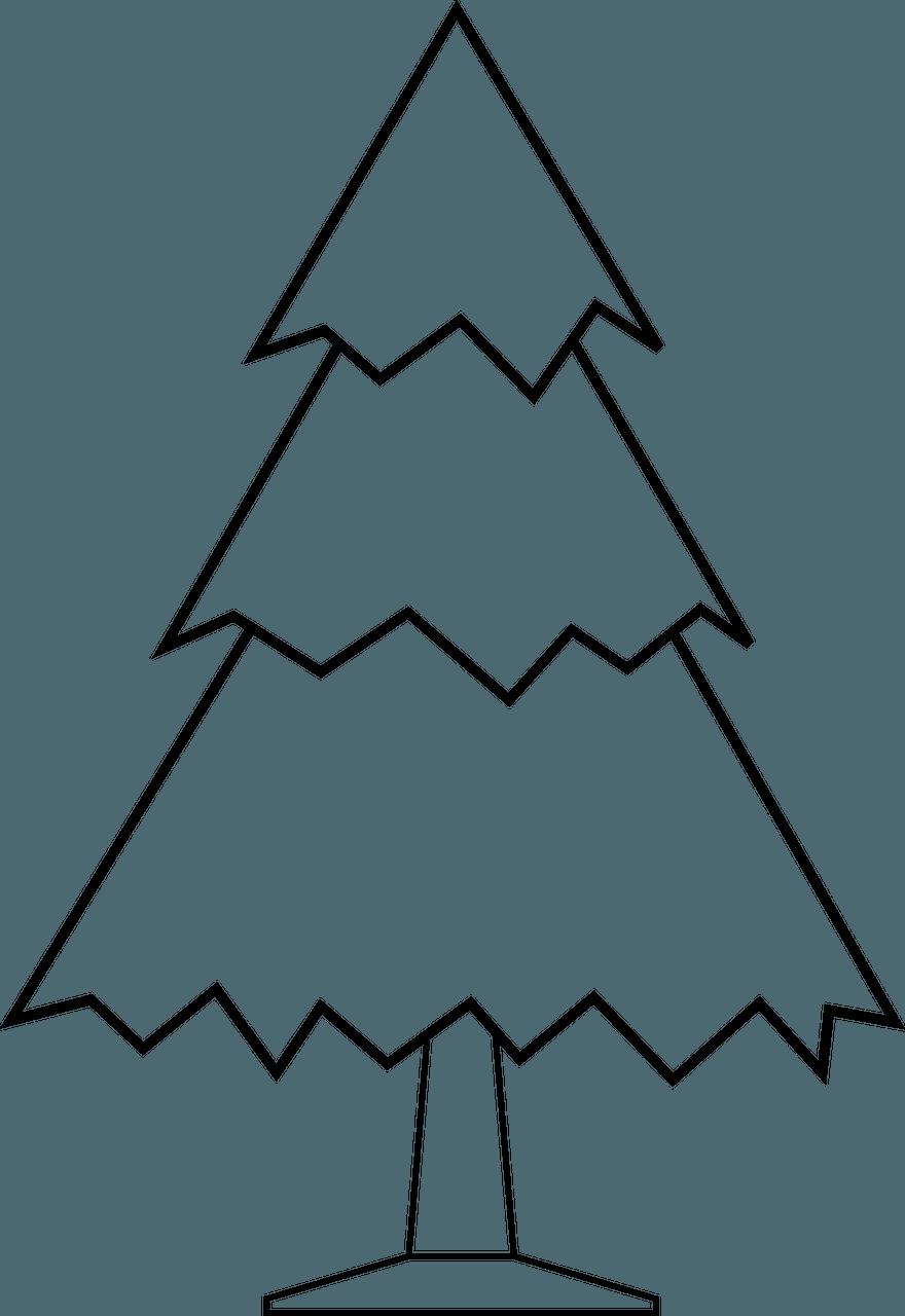 Printable Christmas tree template