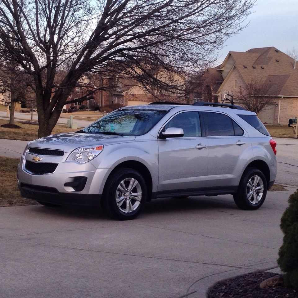 Absolutely in LOVE with my new baby!! New Chevy Equinox LT metallic silver  ❤ this SUV is amazing!!- pic taken by me