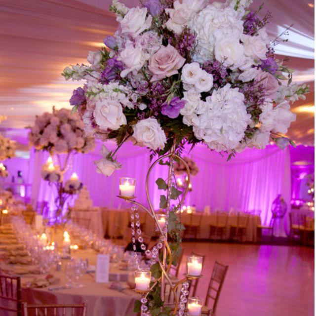 Tall floral centerpiece #wedding #bacheloretteandbride